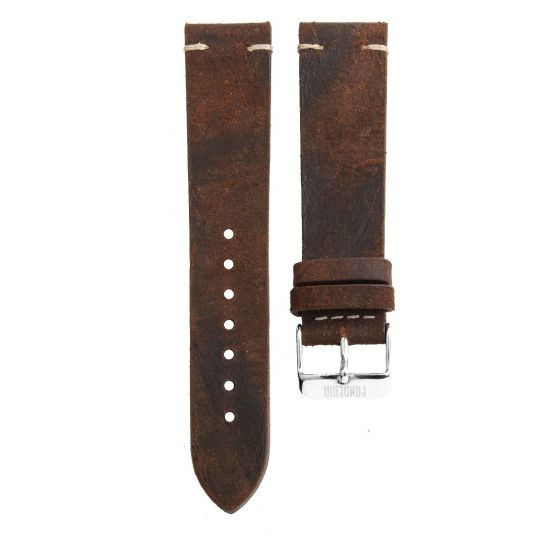 Leather watch strap made in Italy
