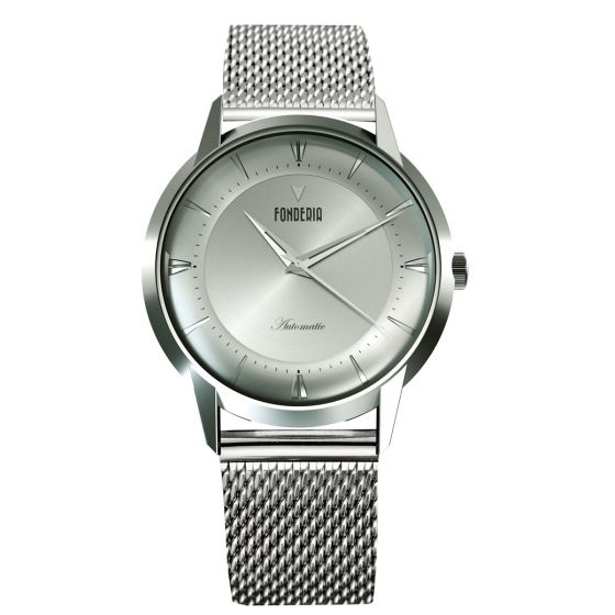 The Professor II automatic full silver bracelet
