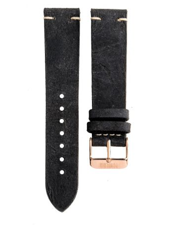 Leather strap with stitching