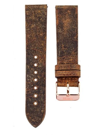 XL Leather strap 20MM Coach - rose gold buckle