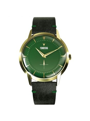 The Professor II small second green gold