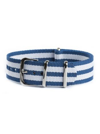 Nato strap white and blue