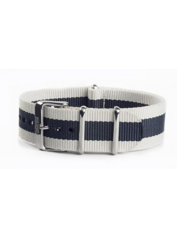 Nato strap white and blue 22mm