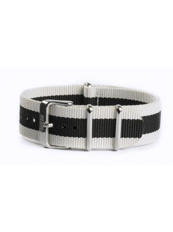 Nato strap white and black 22mm
