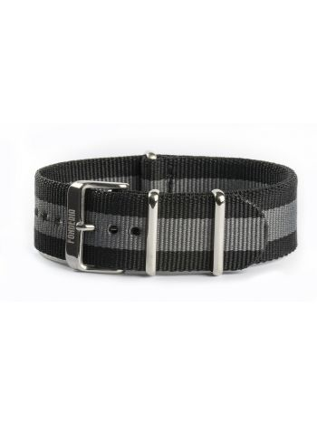 Nato strap grey and black 22mm