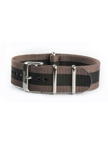 Nato strap brown and black 22mm