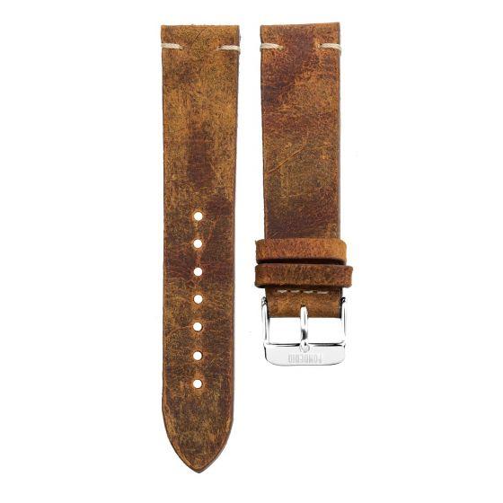 XL Stitching leather strap 20MM Coach - silver buckle
