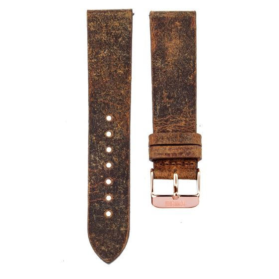 Leather strap 20MM Coach -  rose gold buckle