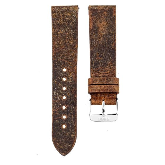Leather strap 20MM Coach - silver buckle