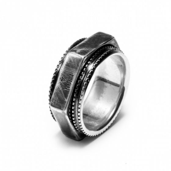 925 silver DOUBLE ring
