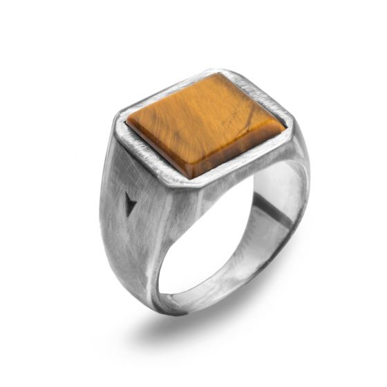 925 silver LORD TIGER'S EYE ring