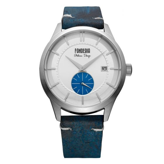 Watch with blue leather strap 5