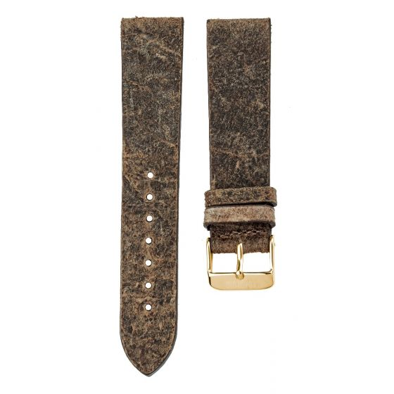 Leather strap 20MM Swamp - gold buckle