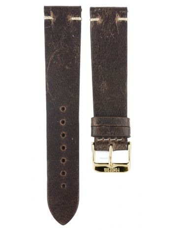 XL Leather strap 20MM  Brown - gold buckle