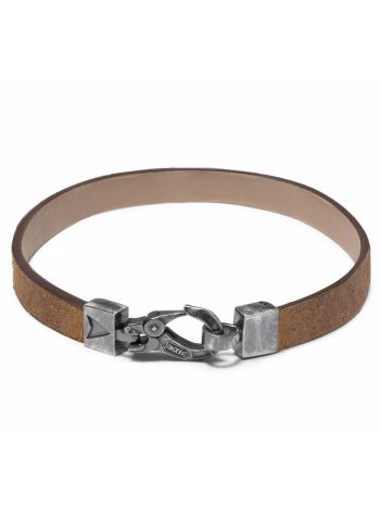 Leather and 925 silver COACH WRAP bracelet
