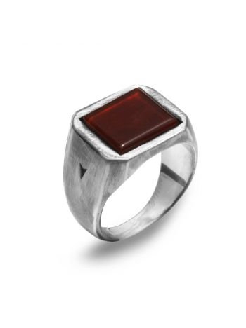 925 silver LORD CARNELIAN ring with carnelian stone
