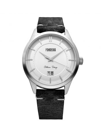 Male watches with black leather strap 1