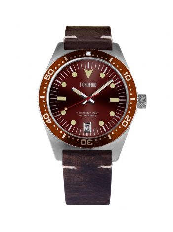 Mens watches brown leather strap 1