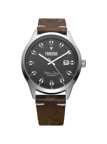 Men's leather strap watch 2